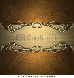 stock illustration of gold background with golden name