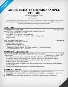 Internship Resume Exle by Resume Format For Internship Student