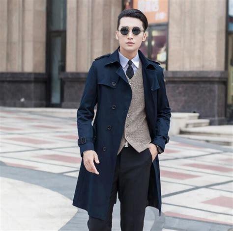 Blue Autumn Style Casual Top 20186 black blue beige plus size 9xl autumn mens trench coat fashion casual fashion