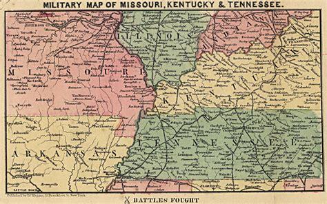 map missouri and kentucky maps civil war