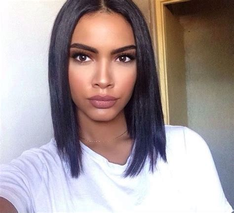 short hairstyles with a middle part image result for middle part weaves shoulder length
