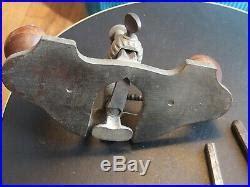 antique stanley   router plane   cutters