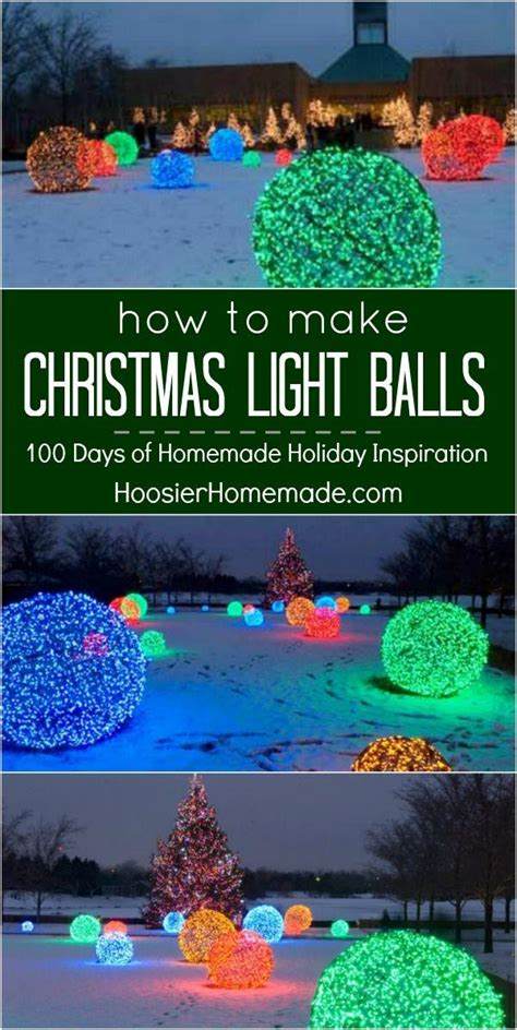 how to make christmas light balls the coolest ideas roundup just imagine daily dose of creativity