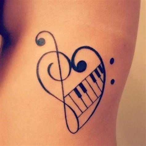 music heart tattoo designs ideas creative