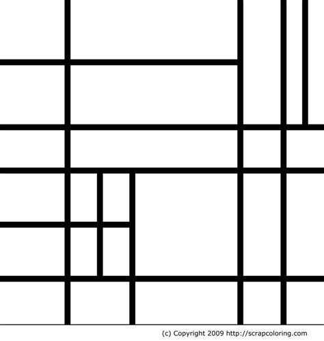 2nd grade b piet mondrian line and shape