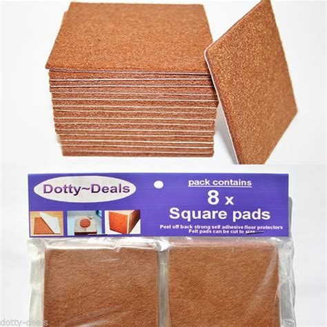 cut to size protector 20 x square cut to size felt floor protector pads dotty