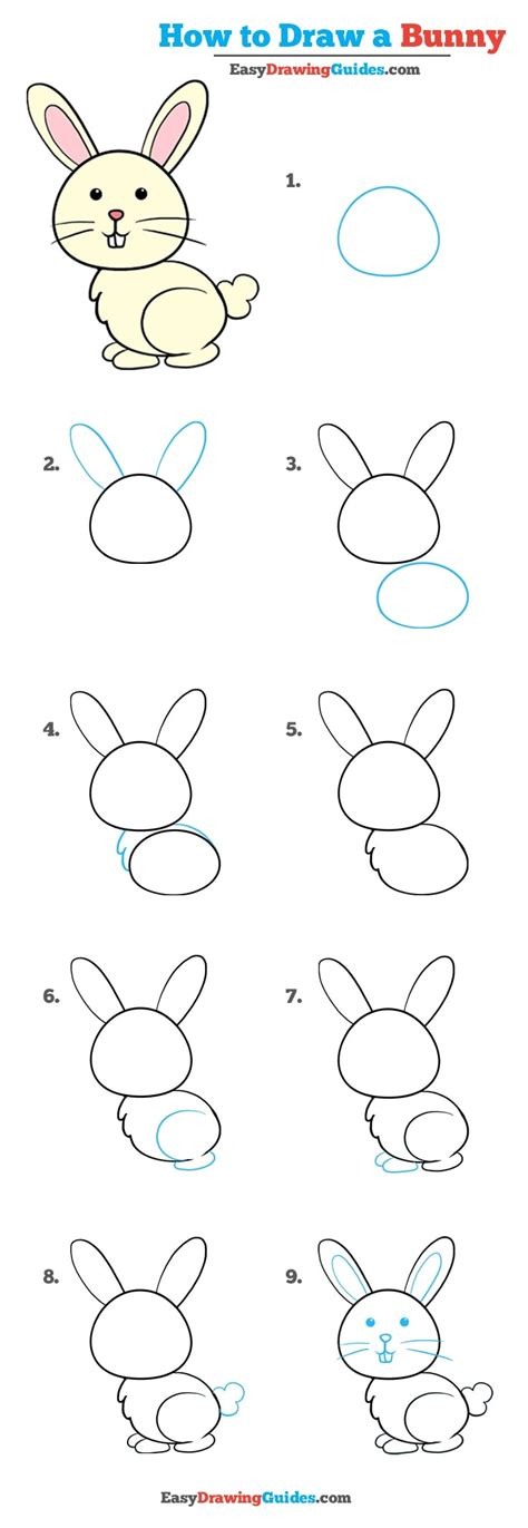 Drawing Of A by How To Draw A Bunny Really Easy Drawing Tutorial Easy