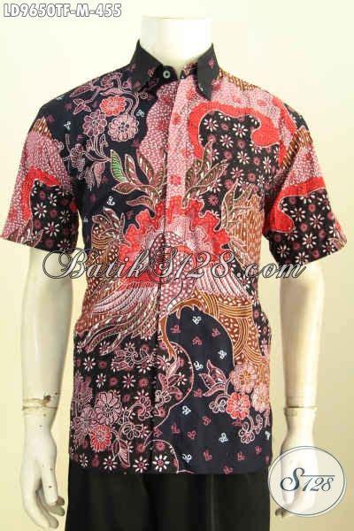 Kameja Batik Premium batik hem halus lengan pendek premium kemeja batik jawa istimewa bahan adem proses tulis