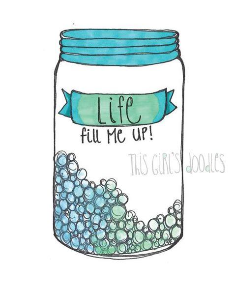 doodle jar jar printable print doodle watercolor