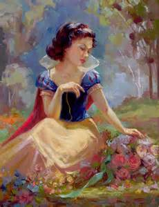 painting of princess disney snow white gathering flowers complex