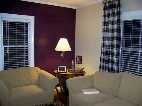 Painting One Wall A Different Color In A Bedroom by Anyone With Plum Berry Claret Colored Walls