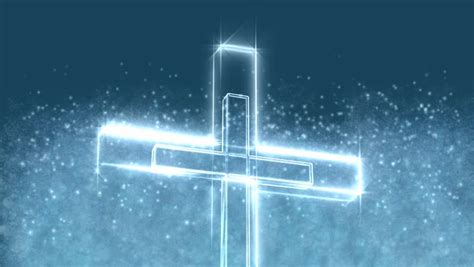 Glowing Christian Cross Motion Background Stock Footage Christian Motion Backgrounds