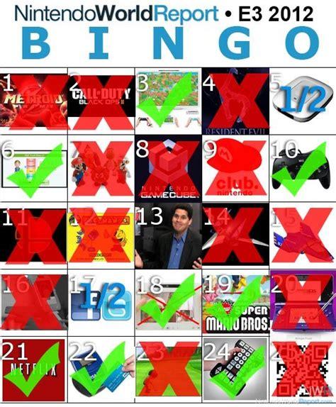 E3 Bingo Card Template by E3 Bingo Cards Revisited Feature Nintendo World Report