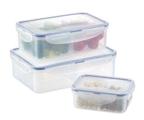 large food container plastic storage containers with lids for food hlm bpa free reusable square food
