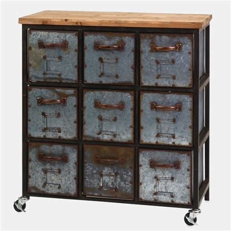 metal  drawer cabinet  wheels antique farmhouse