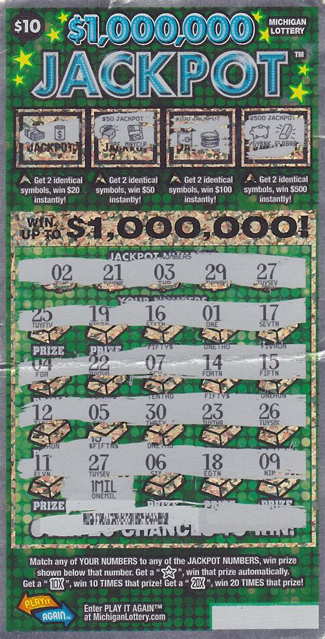 mason county man wins big playing 1 000 000 jackpot instant game michigan lottery - How To Win On Instant Lottery Tickets