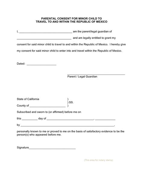 sle authorization letter for minor to travel without parents parental consent letter 10 parental consent form for