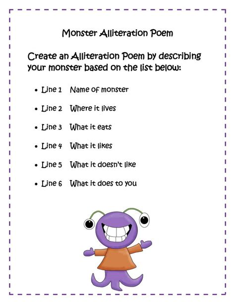alliteration poem template alliteration poems blends search classroom