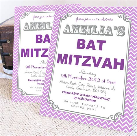 Bat Mitzvah Invitations by Personalised Bat Mitzvah Invitations By Precious