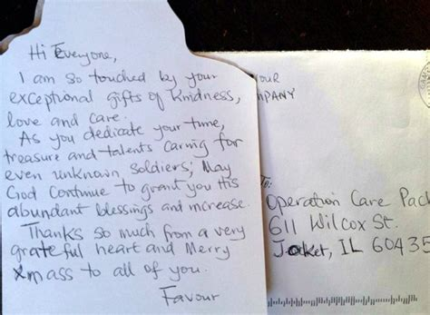 thank you letter to a caring friend from the troops
