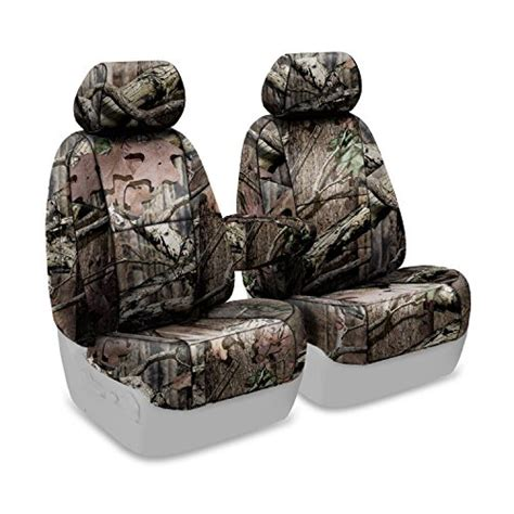 mossy oak neoprene seat covers coverking custom fit front 50 50 seat cover for