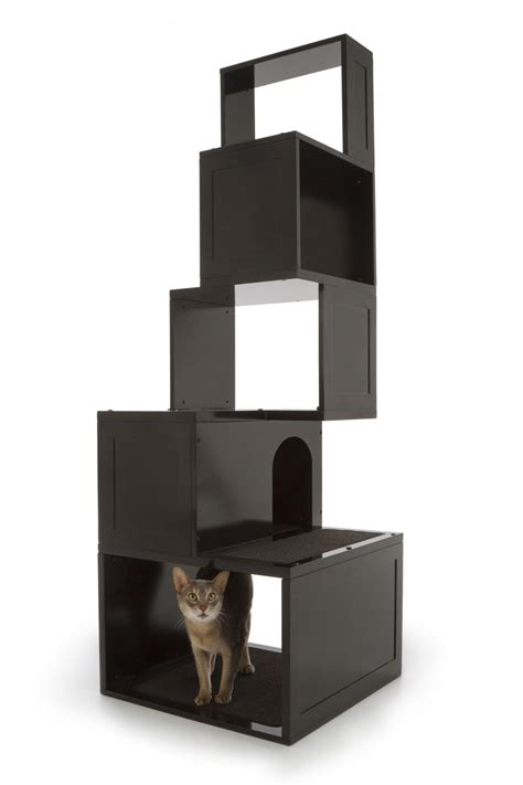 the sebastian modern cat tree in black free shipping the sebastian modern cat tree in black free shipping