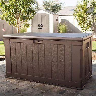 outside storage bench sams club lifetime outdoor deck storage box 116 gal sam s club