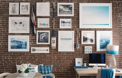 how to hang pictures how to hang a gallery wall on exposed brick walls bright