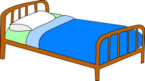 colored bed clip art at clker com vector clip art online