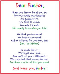 thank you letter to youth pastor free printables for pastor appreciation month pastor