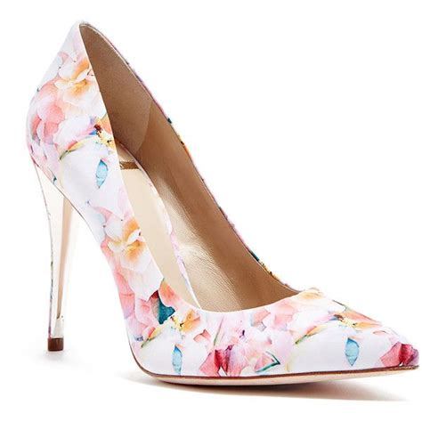 pattern heels polyvore best 25 floral heels ideas on pinterest cute high heels