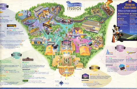 disney studios map walt disney studios park 2003 park map