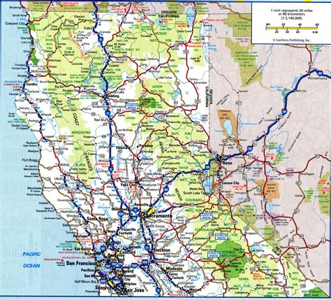printable road map of california california highway