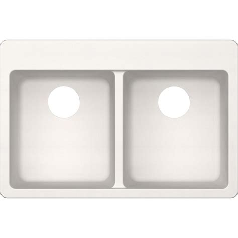 Elkay Elkay By Schock Drop In Undermount Quartz Composite 33 In Double Bowl Kitchen Sink In Elkay Schock Sink Template