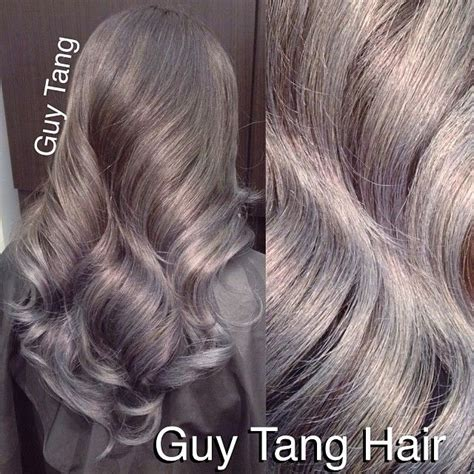 guy tang grey hair guy tang my client wanted to have grey ombre for her