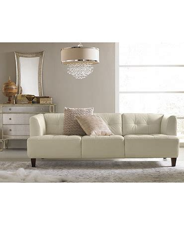 Alessia Leather Sofa Alessia Leather Sofa Living Room Furniture Collection Furniture Macy S