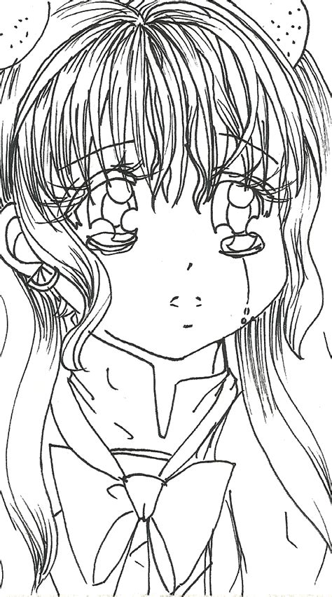 Free Shojo Anime Coloring Page By Clowcard27 On Deviantart Anime Vire Coloring Pages Printable