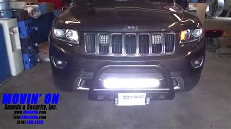 jeep grand cherokee light bar jeep grand cherokee led lighting youtube