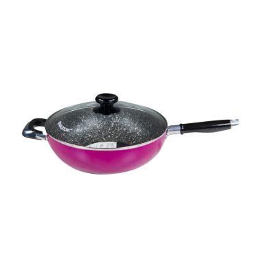 Wajan Maspion Royal Wok wajan maspion marbel royal wok maspion wajan enamel
