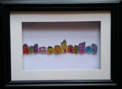 A Frame Houses by Sea Glass Houses Pebble Art Sea Glass Art Folksy