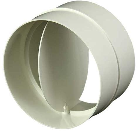 afzuigkap met 100 mm afvoer ronde kunststof terugslagklep diameter 100mm av100 bij