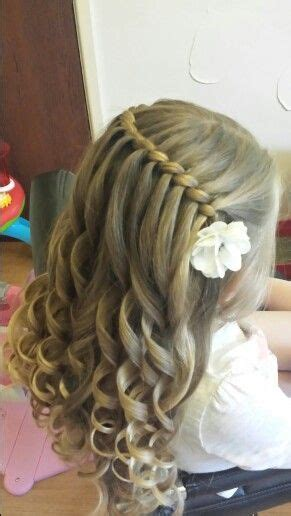 flower design hair rope waterfall braid by sweethearts hair design