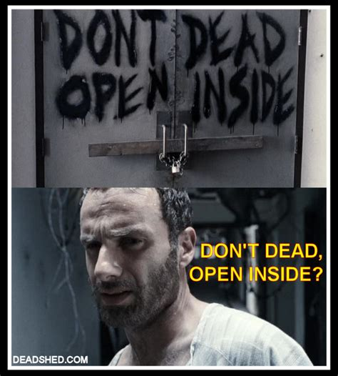 Walking Dead Meme Rick Crying - image the walking dead season 1 meme rick hospital sign deadshed jpg walking dead wiki