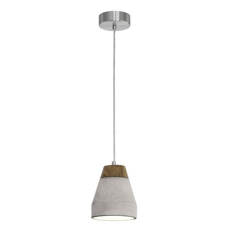 concrete and wood pendant light eglo 95525 tarega concrete and wood single pendant light