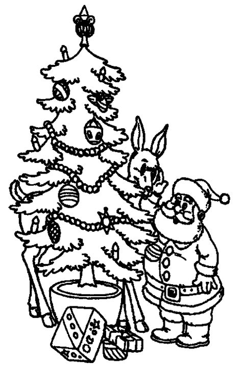 Christmas Tree Coloring Pages Coloringpages1001 Com Tree And Presents Coloring Pages
