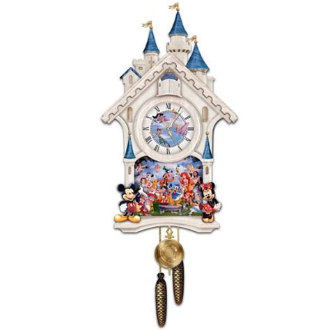 bradford exchange home decor disney character cuckoo clock happiest of times by the