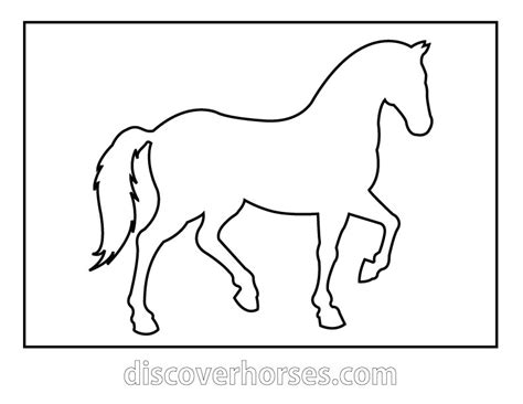 free coloring pages of horse templates