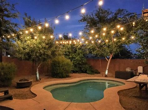 hanging string lights in backyard best 25 backyard string lights ideas on patio