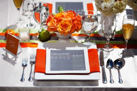 orange and silver wedding decor orange gray and lime wedding reception table decor