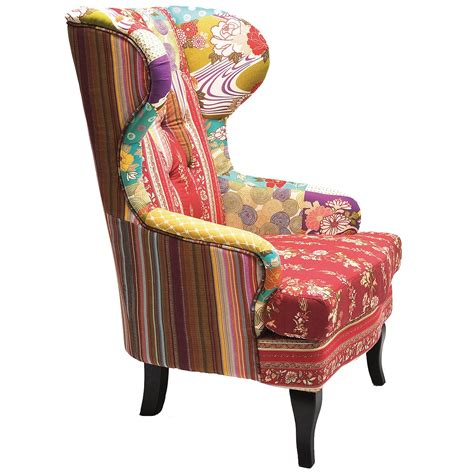 Patchwork Armchair by Romany Patchwork Wingback Armchair Bedroom Company